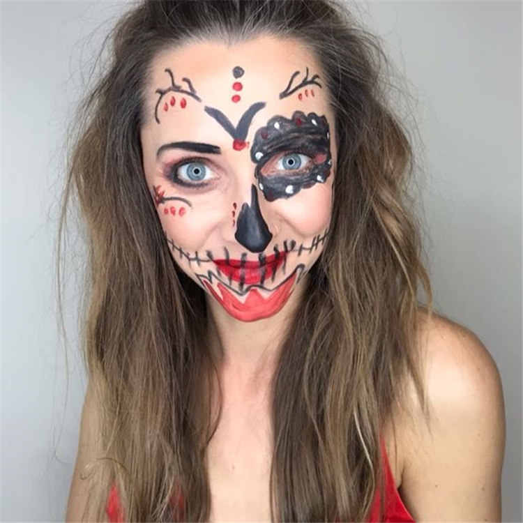 80 Halloween simple creative makeup/></p> <p><a href=